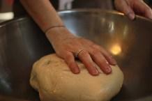 I love the feeling of dough!