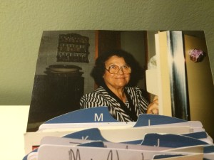 Mom in Rolodex watching me work.