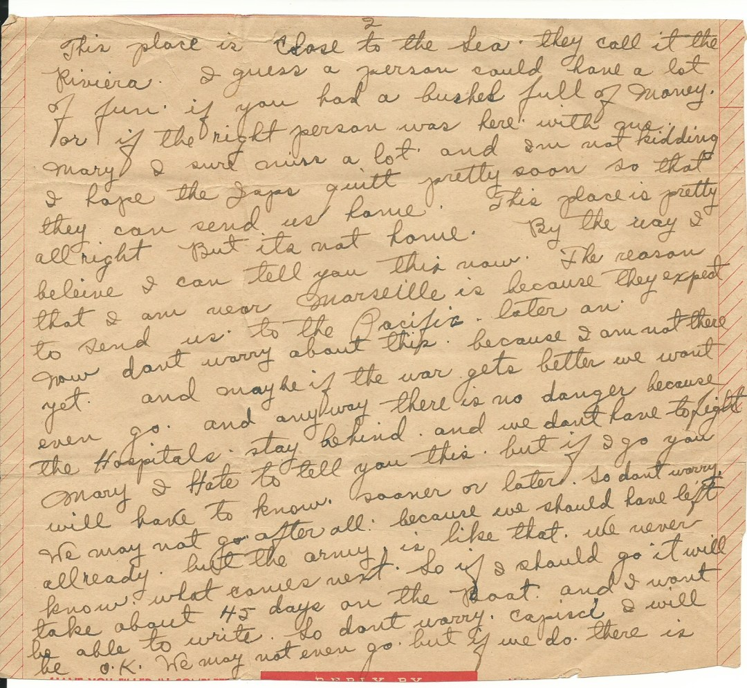 Page 2 of Dad's letter from Nice France July 26, 1942.jpg