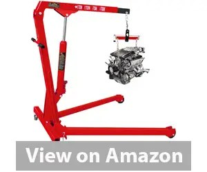 Torin Big Red Steel Engine Hoist / Shop Crane with Foldable Frame, 1 Ton (2,000 lb) Capacity Review