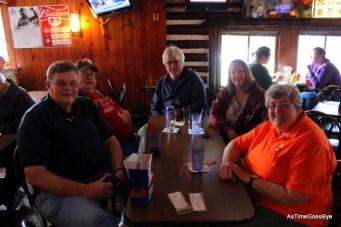 Larry, dad, Don, me & Karla at Tally's, Lewiston, MI