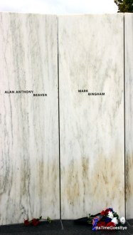 The Wall of Names consists of 40 individual marble slabs, each engraved with the name of a Flight 93 passenger or crew member.