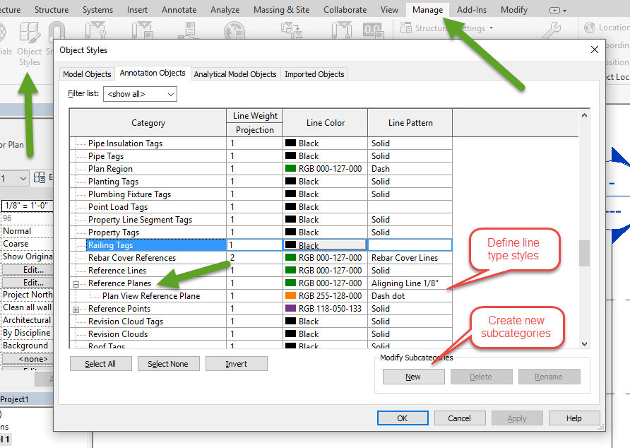 Visibility Control for Reference Plans in Revit 2018