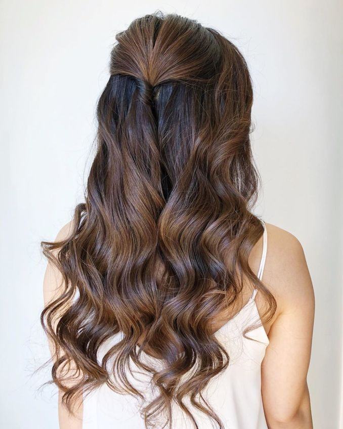 23 stunning half-up, half-down wedding hairstyles | all