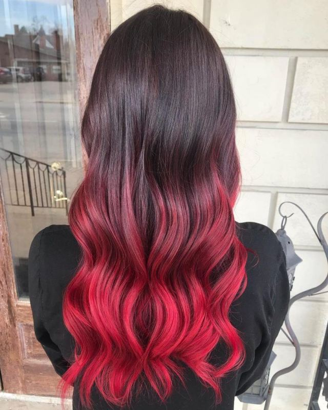 10 popular red and black hair colour combinations | all