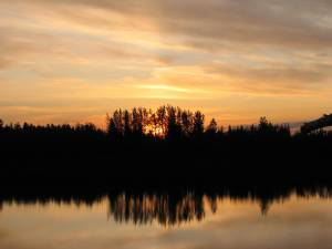 Koyukuk River sunset in interior Alaska