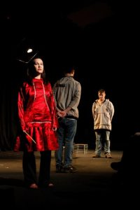 Mary Lou Rock performs in a play called, Assimilation, by Jack Dalton. Courtesy photo