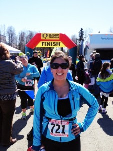 Agatha at the Golden Nugget Triathlon in Anchorage. Courtesy photo