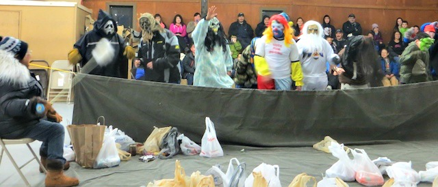 People enjoy the Washtub Dance in Nulato. Photo by Martha Demoski