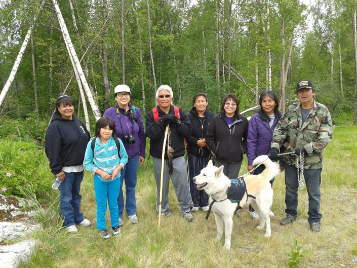 Walkers on May 29 between Chugiak and Eagle River. Photo by Becky Semler