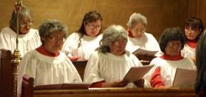 Tukudh Holy Communion. Photo by Allan Hayton