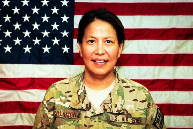 Wanda Solomon - Alaska Native Guardswoman. Courtesy photo