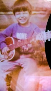 Marc Brown and his first guitar. Courtesy photo