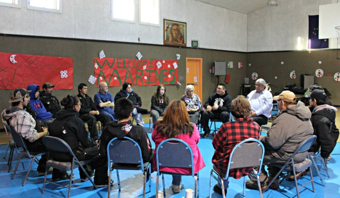 Circle Talks were held at the Nikolai Sobriety Celebration. Photo by Amy Modig