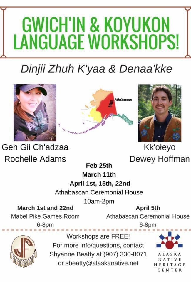Denaakk'e and Dinjii Zhuh K'yaa Workshops