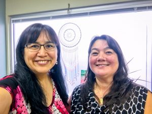 Angela Gonzalez and Brenda Mahan meet in Anchorage