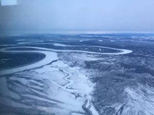 The Koyukuk River by plane in winter. Photo by Doreen David