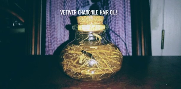 Vetiver restoration potion recipe for skin and hair