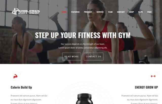 Diet-Shop Gym, Weight Loss & Health Supplement WordPress Theme