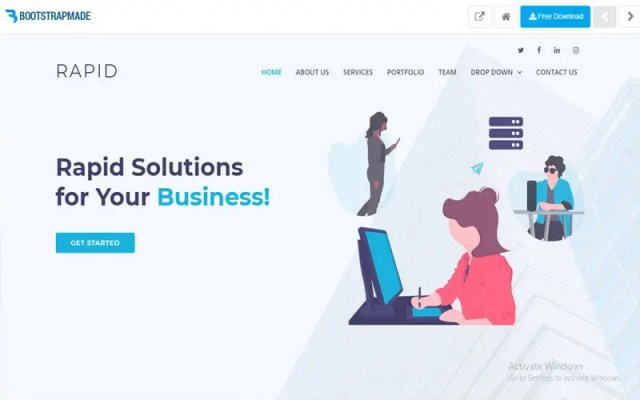 Rapid website for free templates