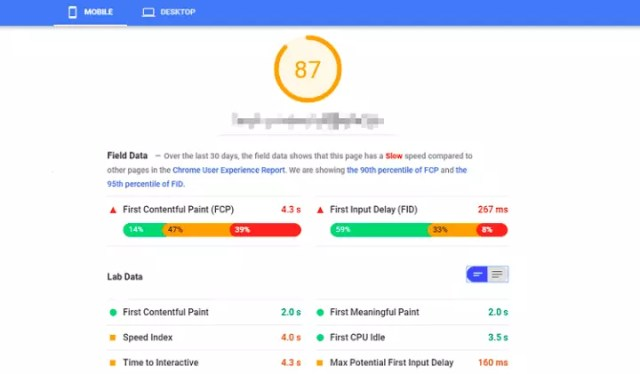 google insights speed checker