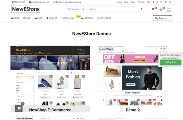 NewStore WordPress Theme