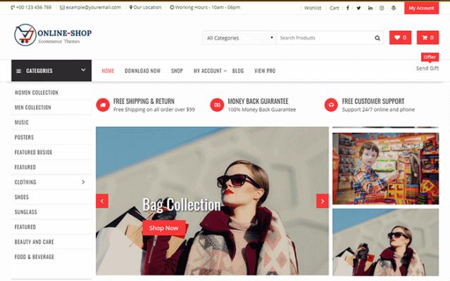 Online Shop - Highly Customized WordPress E-Commerce Theme