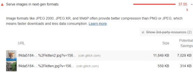 WordPress Webp next-gen format