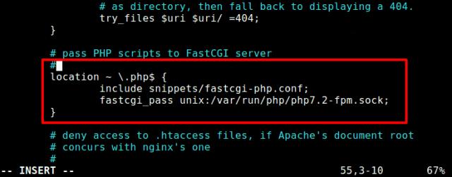 nginx server block
