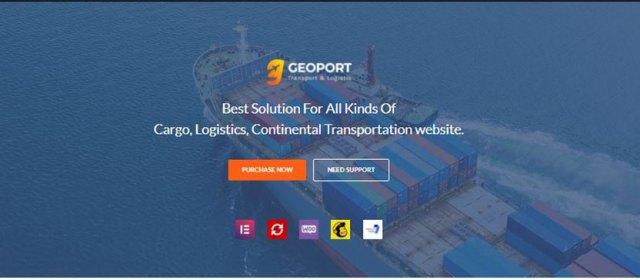 geoport Transportation wordpress theme