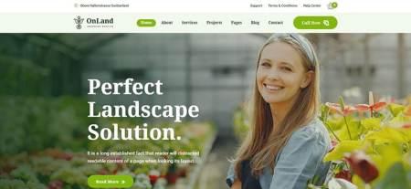 WordPress Theme for Gardening
