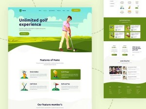 HAMZ - Download Free PSD Template for Golf, Sports