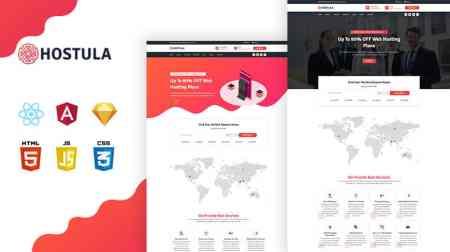 Hostula – Free Domain & Hosting Service HTML Template