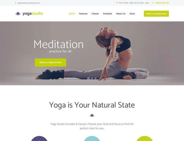 26+ Best Yoga WordPress Themes 2621 - aThemes