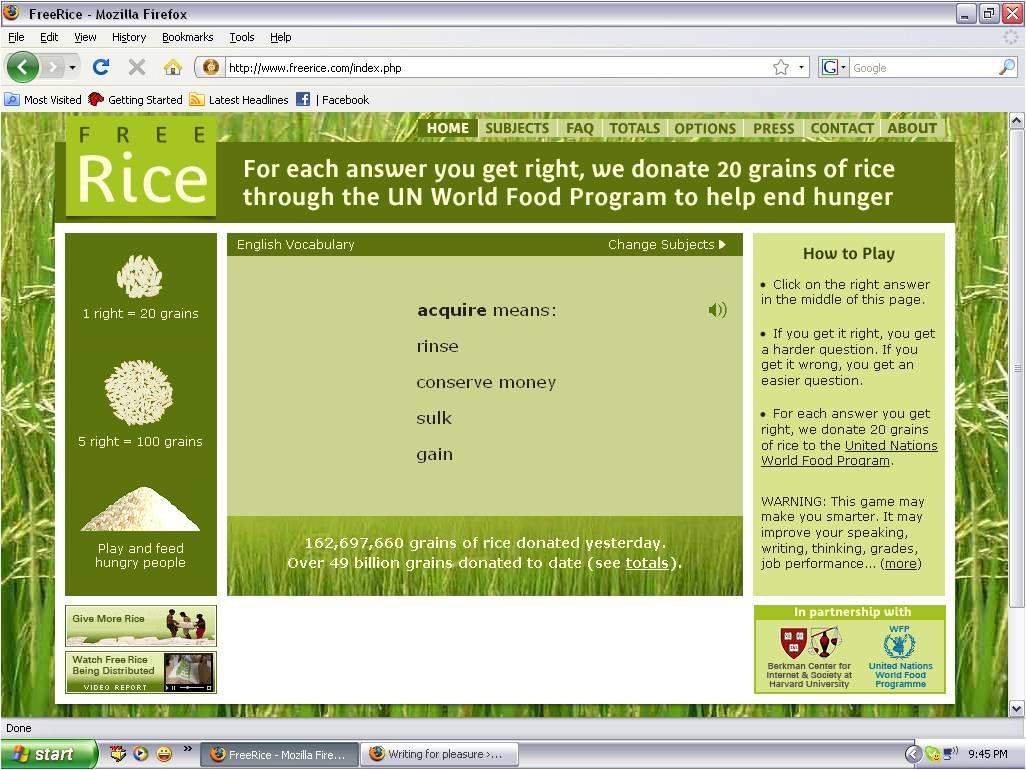 Grains Rice Math Games