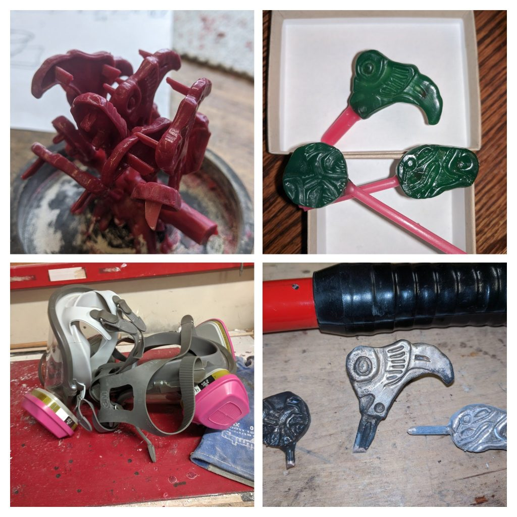 Collage of metal working