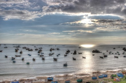 boats in mui ne