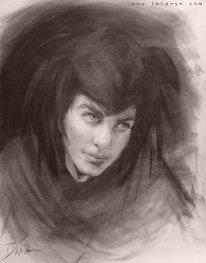 (Charcoal and Newsprint, 2006) Novel character © Danielle Williams