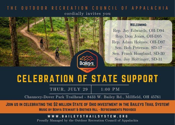 Baileys Trails Celebration flyer