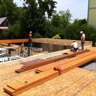 installing-joists-over-garage