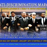Athens Anti-Discrimination Rally on Jan 18