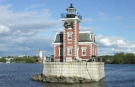 Built in 1874, the Hudson-Athens Lighthouse is located near the cities of Hudson and Athens, New York.