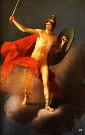 Mars. late 18th.century. follower of Heinrich Friedrich Fuger. German. 1751-1818. oil canvas. from the Gianni Versace auction.