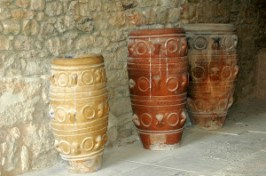 Pithoi and Storage jars in Knossos.