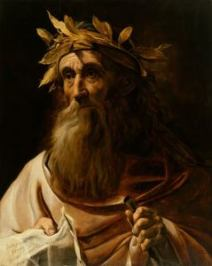 Portrait of Homer - Oil Painting 17th Century