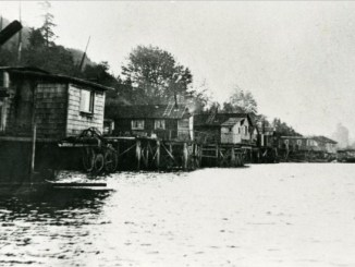 This was Burnaby s first waterfront communtity known as Crabtown in British Columbia