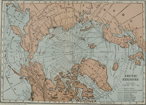 Map of the high Arctic Region Flikr Image
