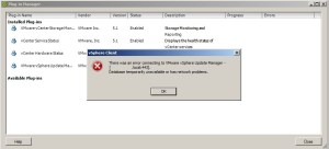 VMware Update Manager - Plugin Error