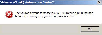 IaaS Database Error