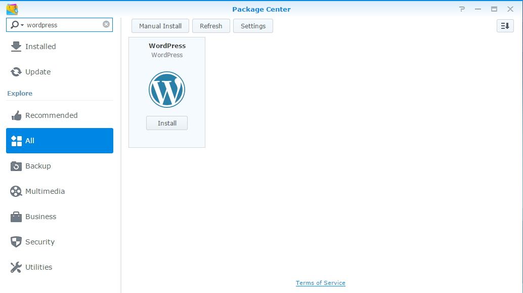 Package Center - WordPress